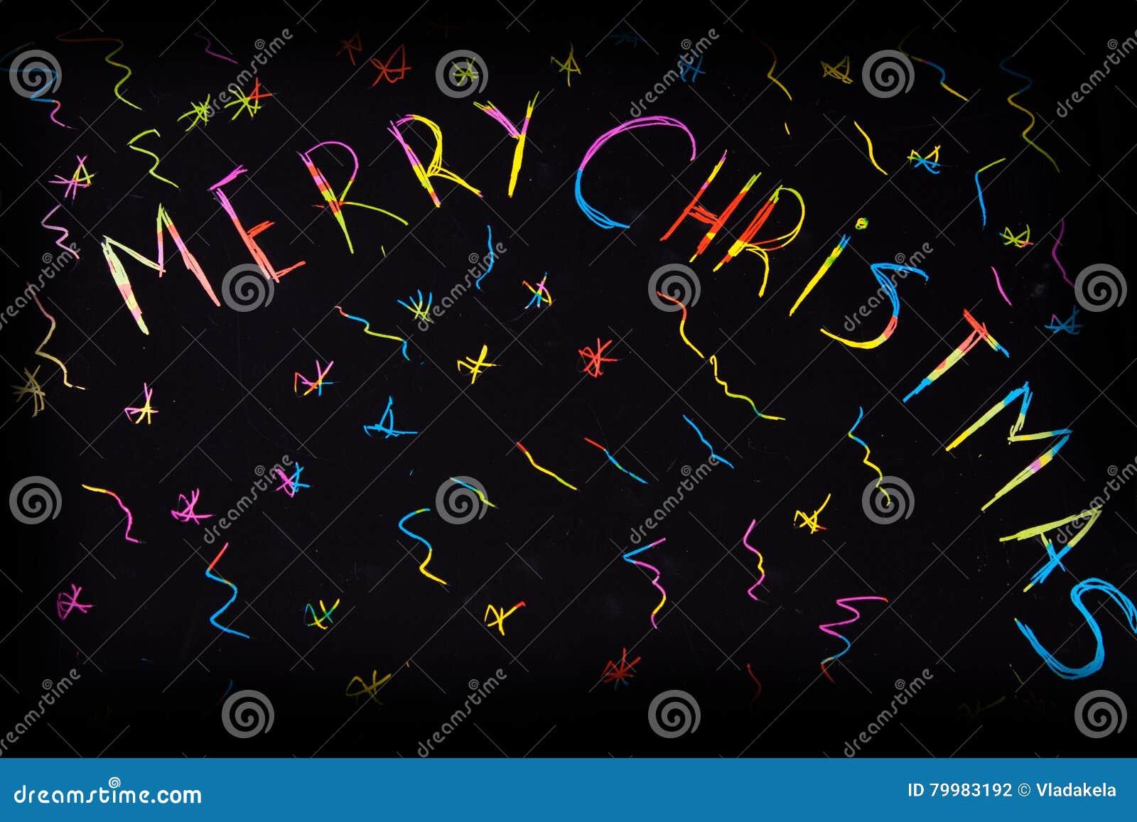 Inscripción chispeante de y x22; Feliz Christmas& x22;
