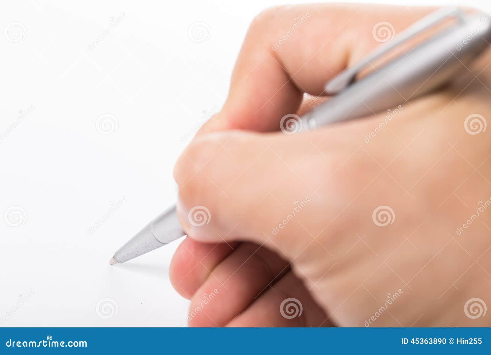 Inscription avec la main droite pour l éducation