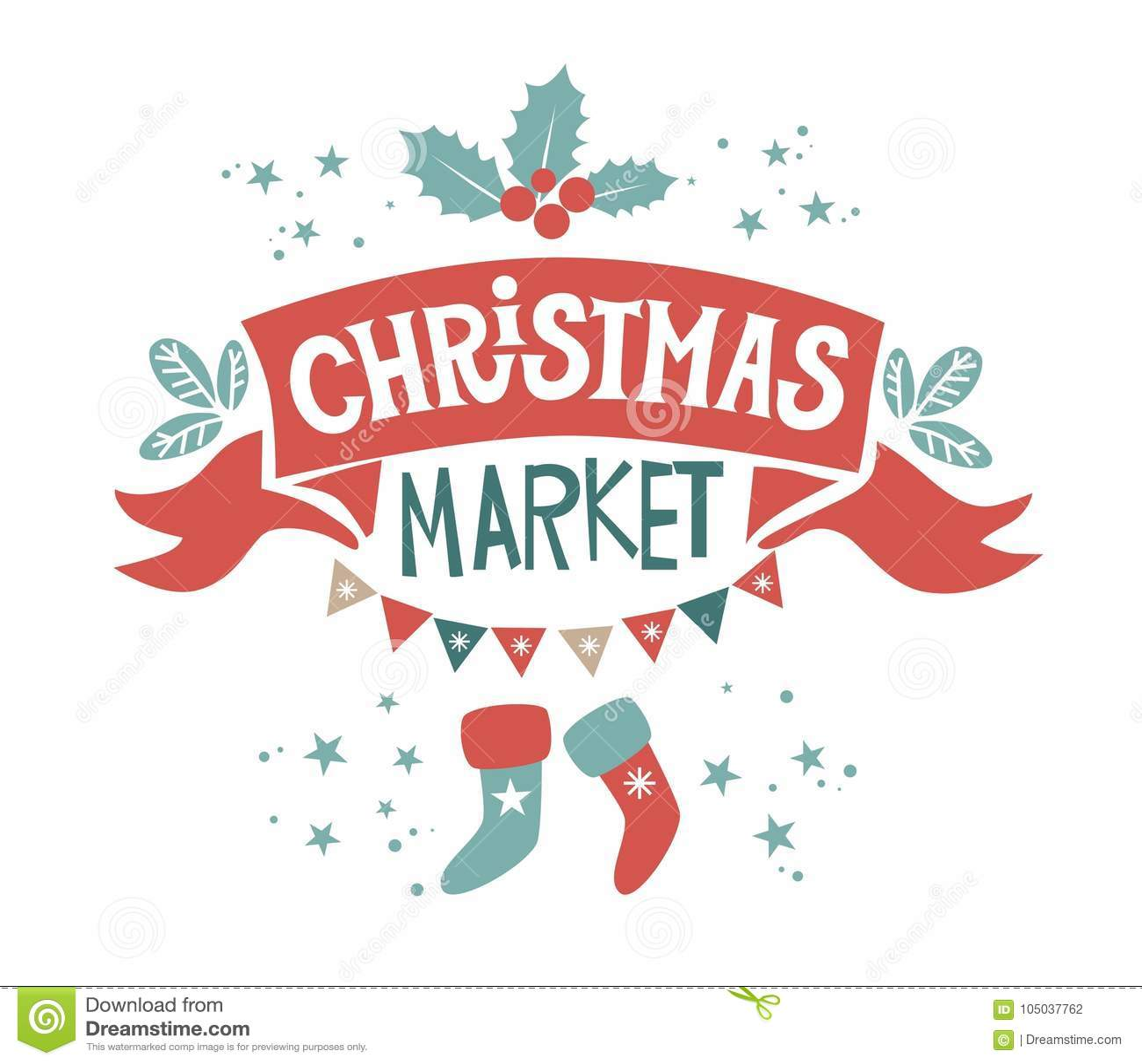 Christmas Market Illustration Stock Illustration - Illustration of ...