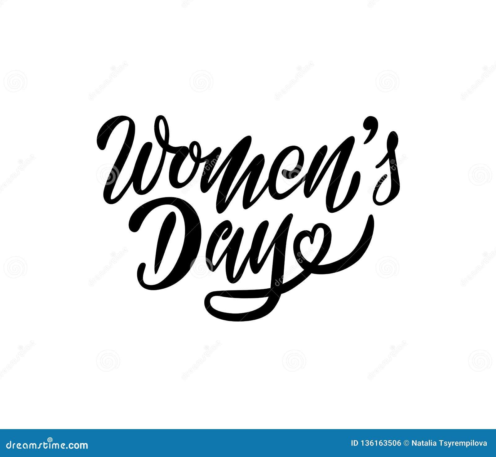 Inscription de la composition pour les cartes ou les invitations du jour des femmes