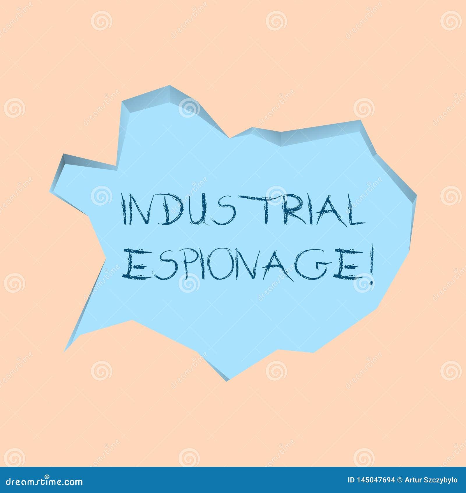 Inscription de la note montrant l espionnage industriel Forme de présentation de photo d affaires d espionnage conduite pour des