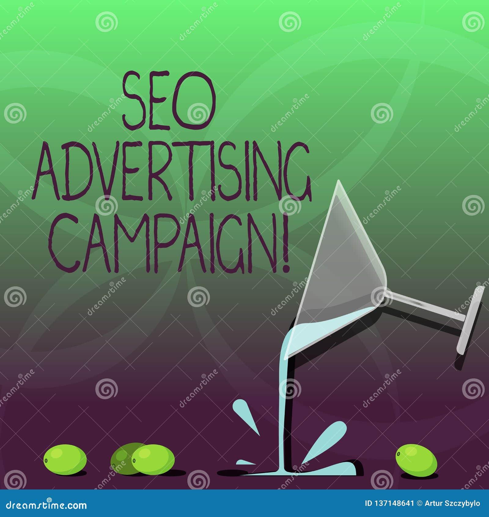 Inscription de la note montrant Seo Advertising Campaign Photo d affaires présentant favorisant un site pour augmenter le nombre