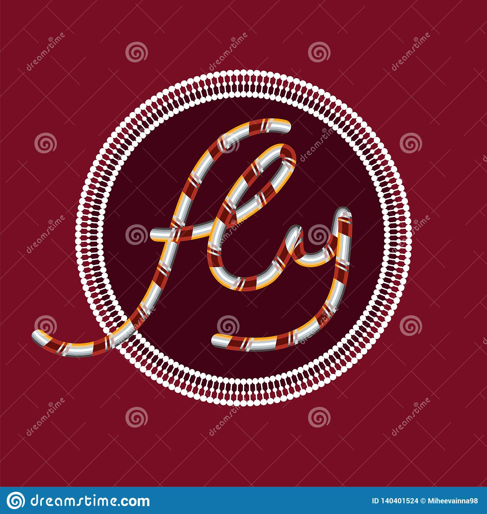 The inscription ` fly ` on a Burgundy background in a circle with ornaments.
