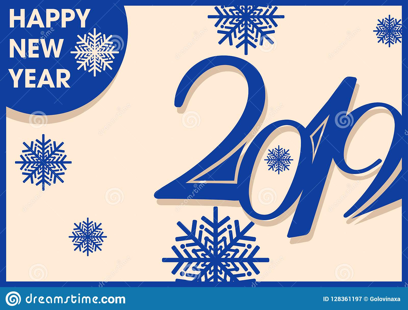 2019 inscription and new year greetings