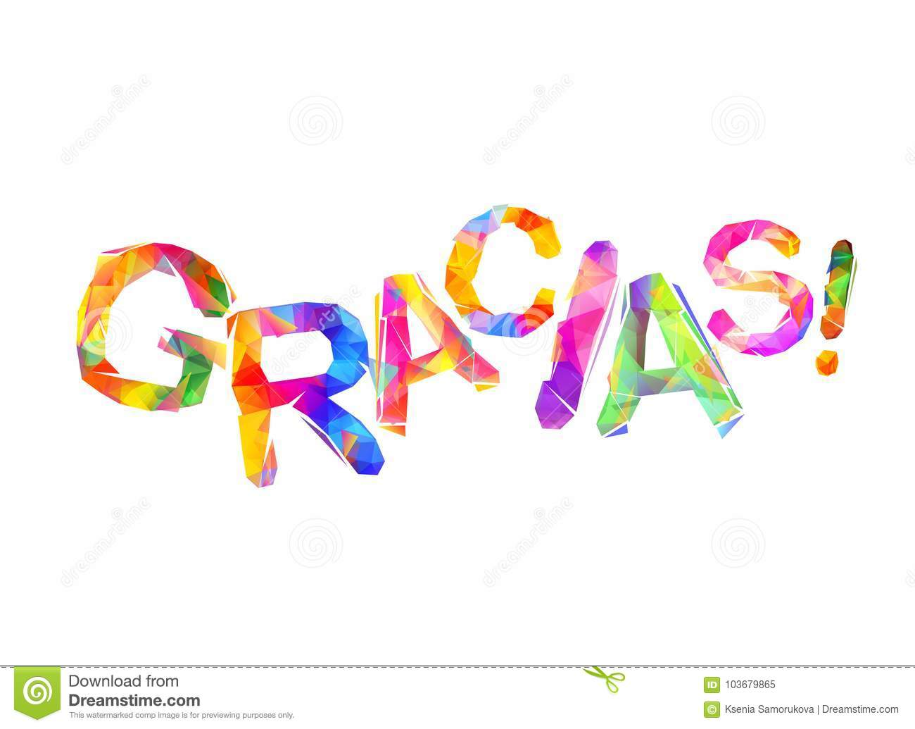 Inscription in spanish thank you gracias stock vector download comp expocarfo Images