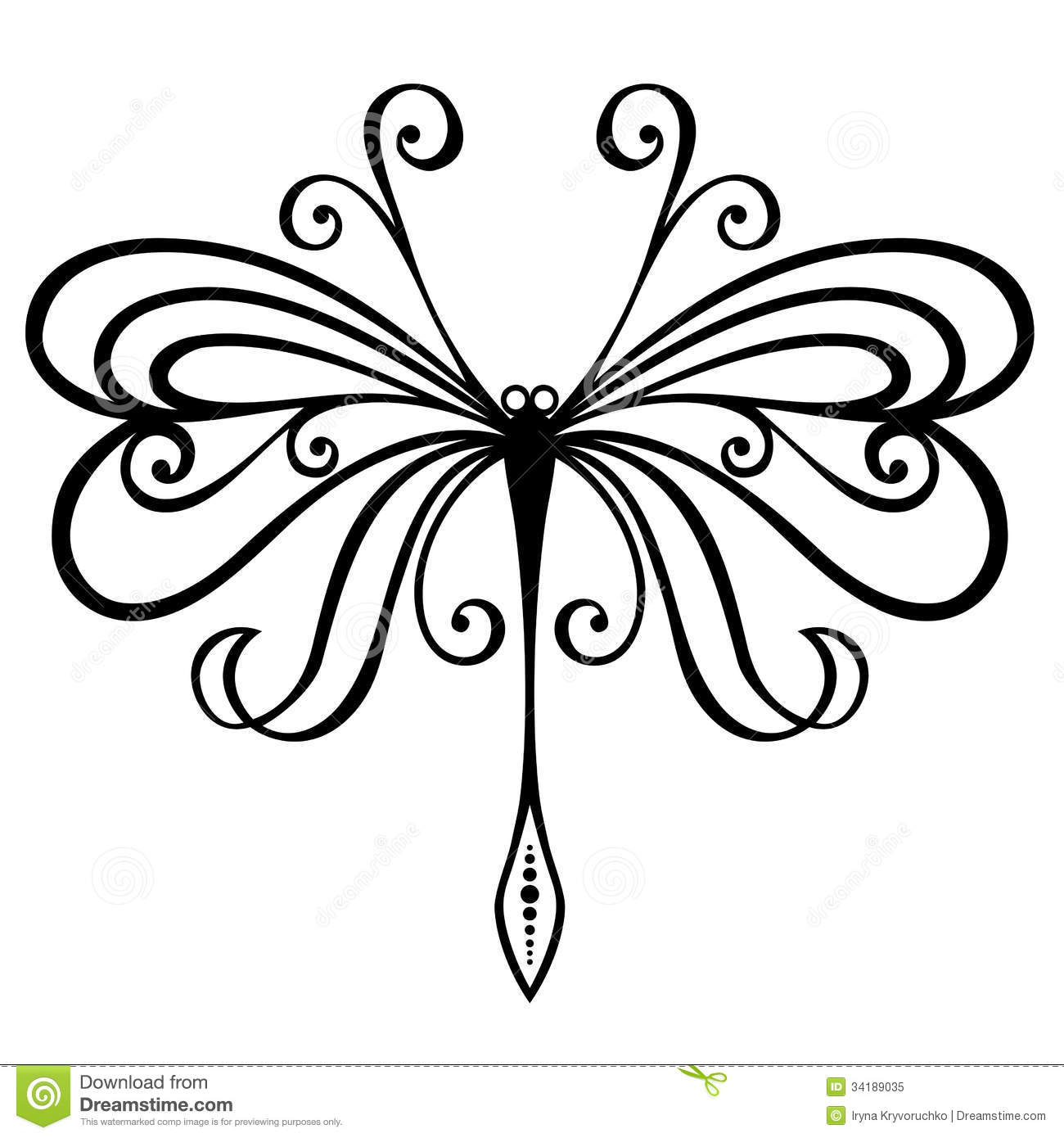 Insect dragonfly stock vector image of illustration 34189035 Drawing images free download