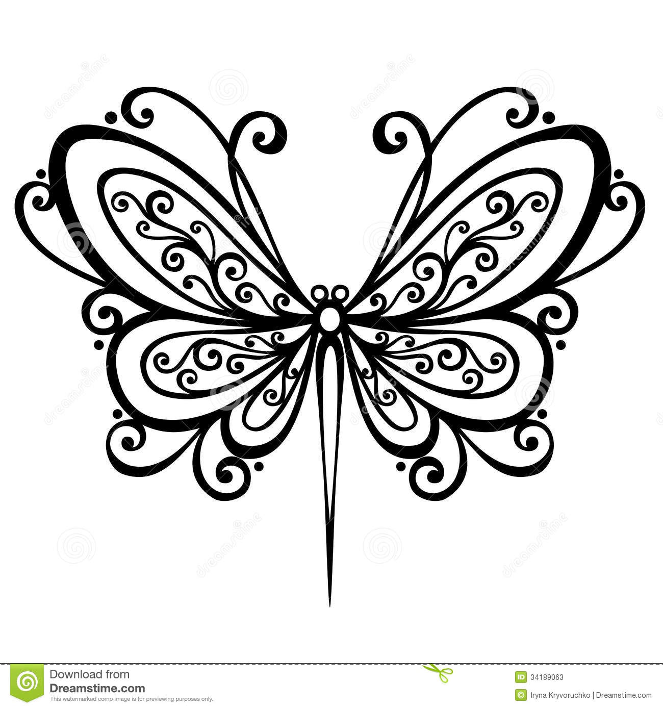 Insect Dragonfly Stock Vector Image Of Decoration