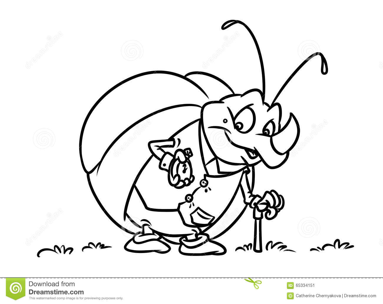 cartoon bug coloring pages - photo#20