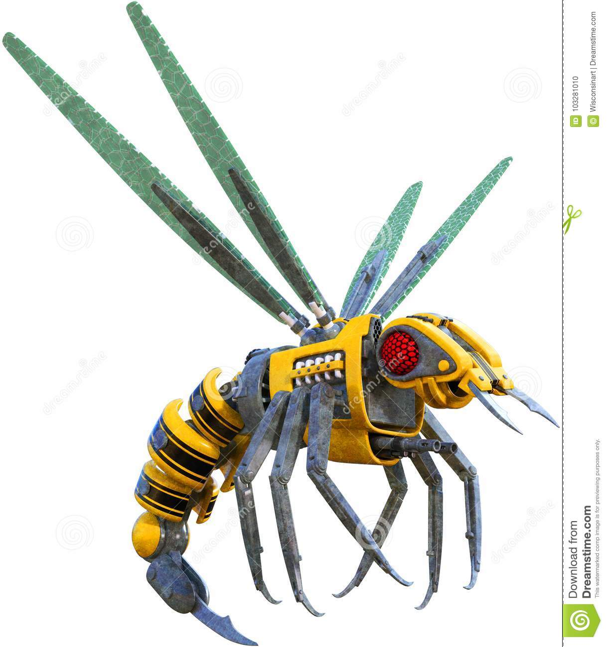 Insect Robot Bee Wasp Isolated