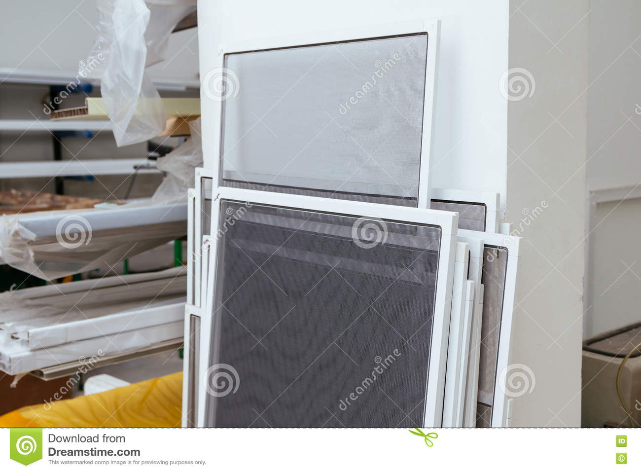Insect Screen For Windows And Doors Stock Image Image Of Business