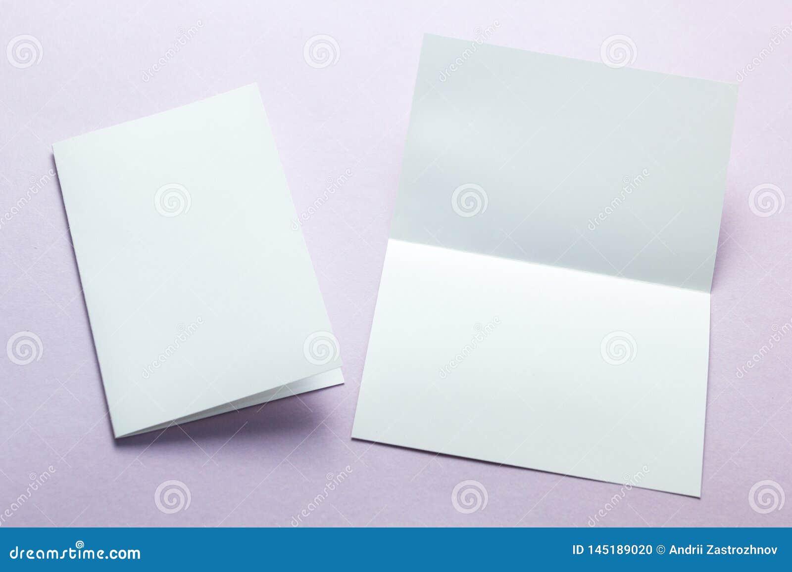 Insecte blanc vide de carte postale de carte de visite professionnelle de visite d isolement sur un fond pourpre, maquette