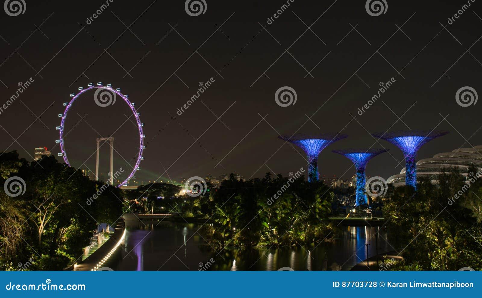 Insecte de Singapour et arbre superbe