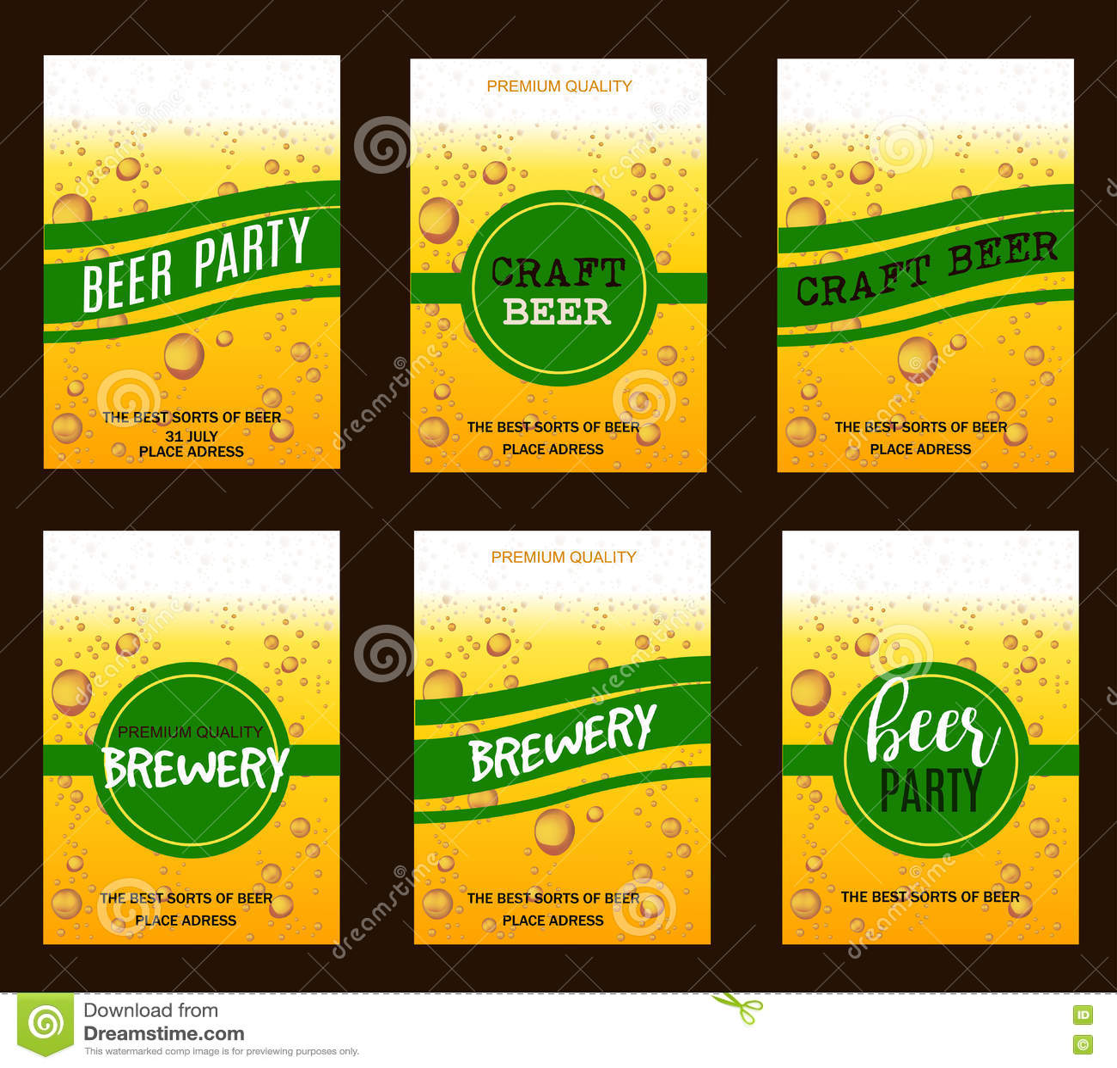 Insecte Rgl Avec Des Baisses De Bire Pour La Brasserie Mtier Partie Invitation Affiche Carte Visite Professionnelle