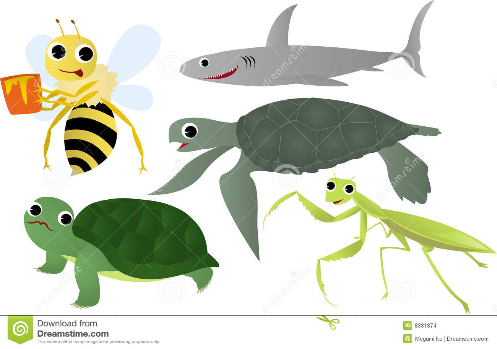 Insecten en overzees dier