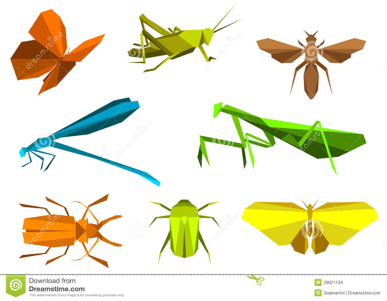 origami insectos