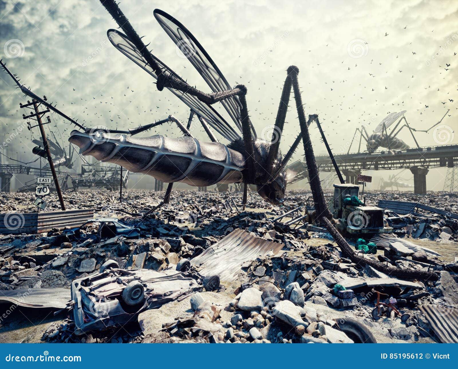 Insectes géants et la ville
