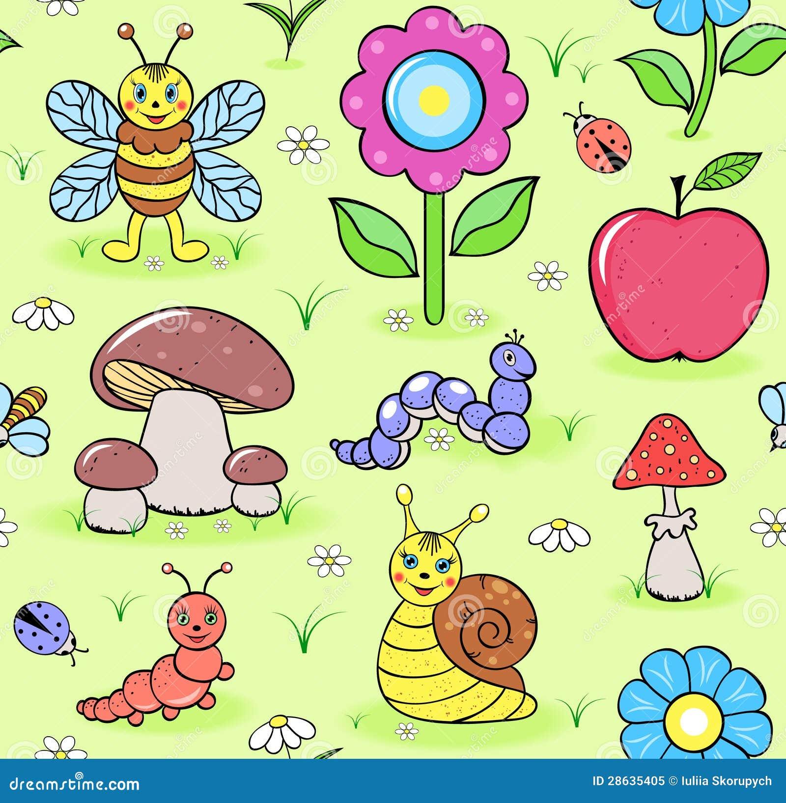 Insectes mignons sur le pré d été