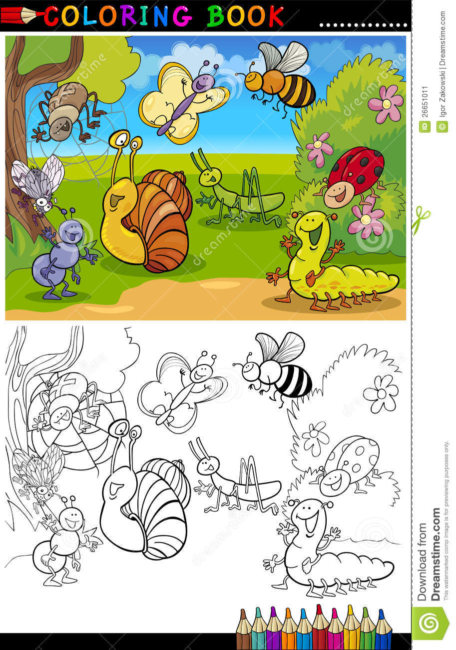 Coloring book for notability - Coloring Book For Notability Insects And Bugs For Coloring Book Or Page Stock Image