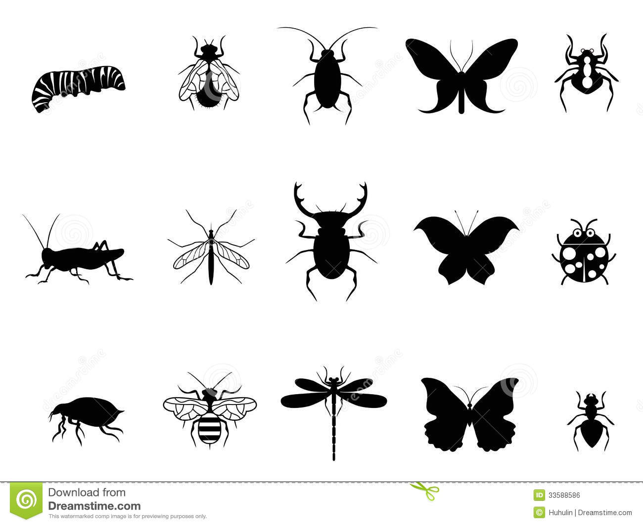 Insects Icon Set Royalty Free Stock Image Image 33588586