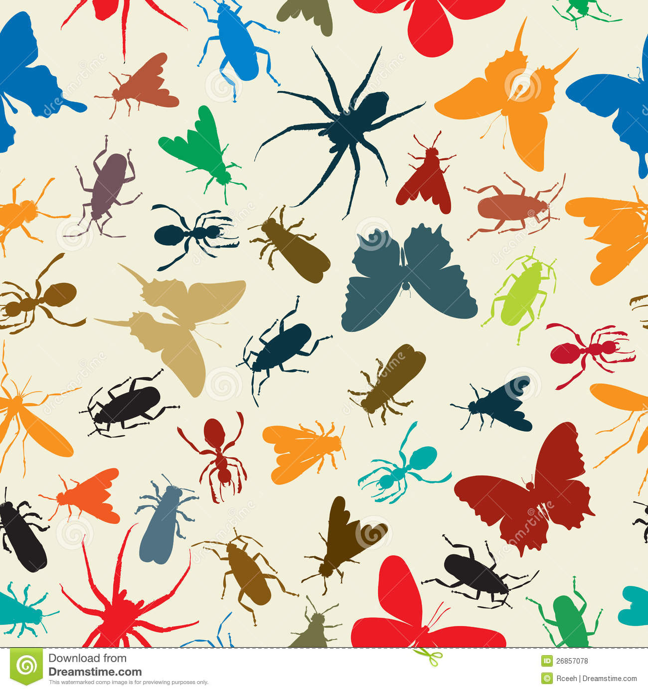 Insects Pattern Royalty Free Stock Photos Image 26857078