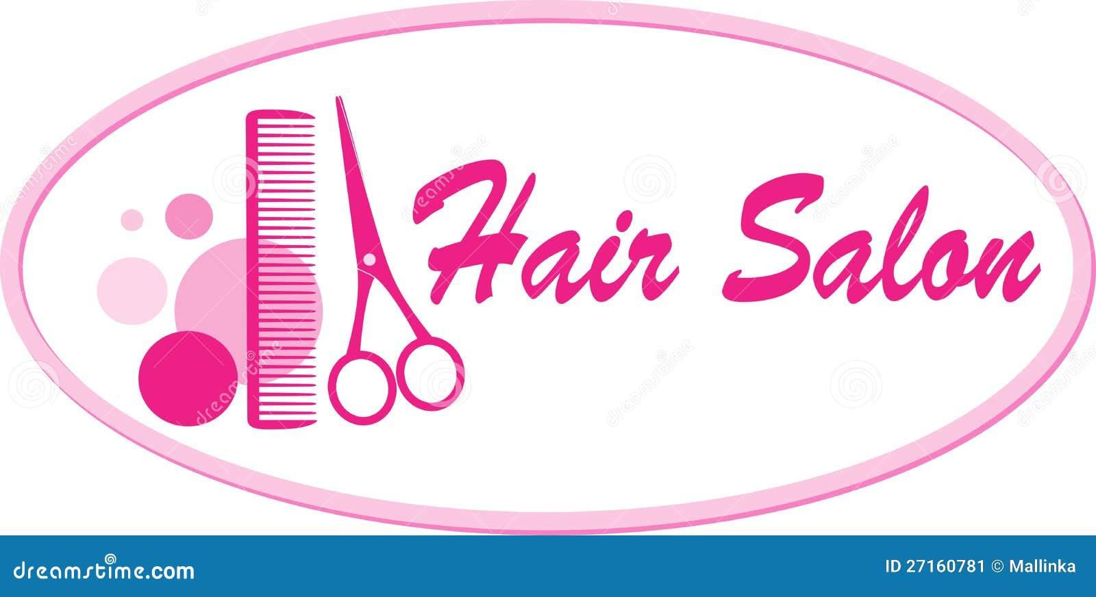 Insegna del salone di capelli con le forbici ed il pettine
