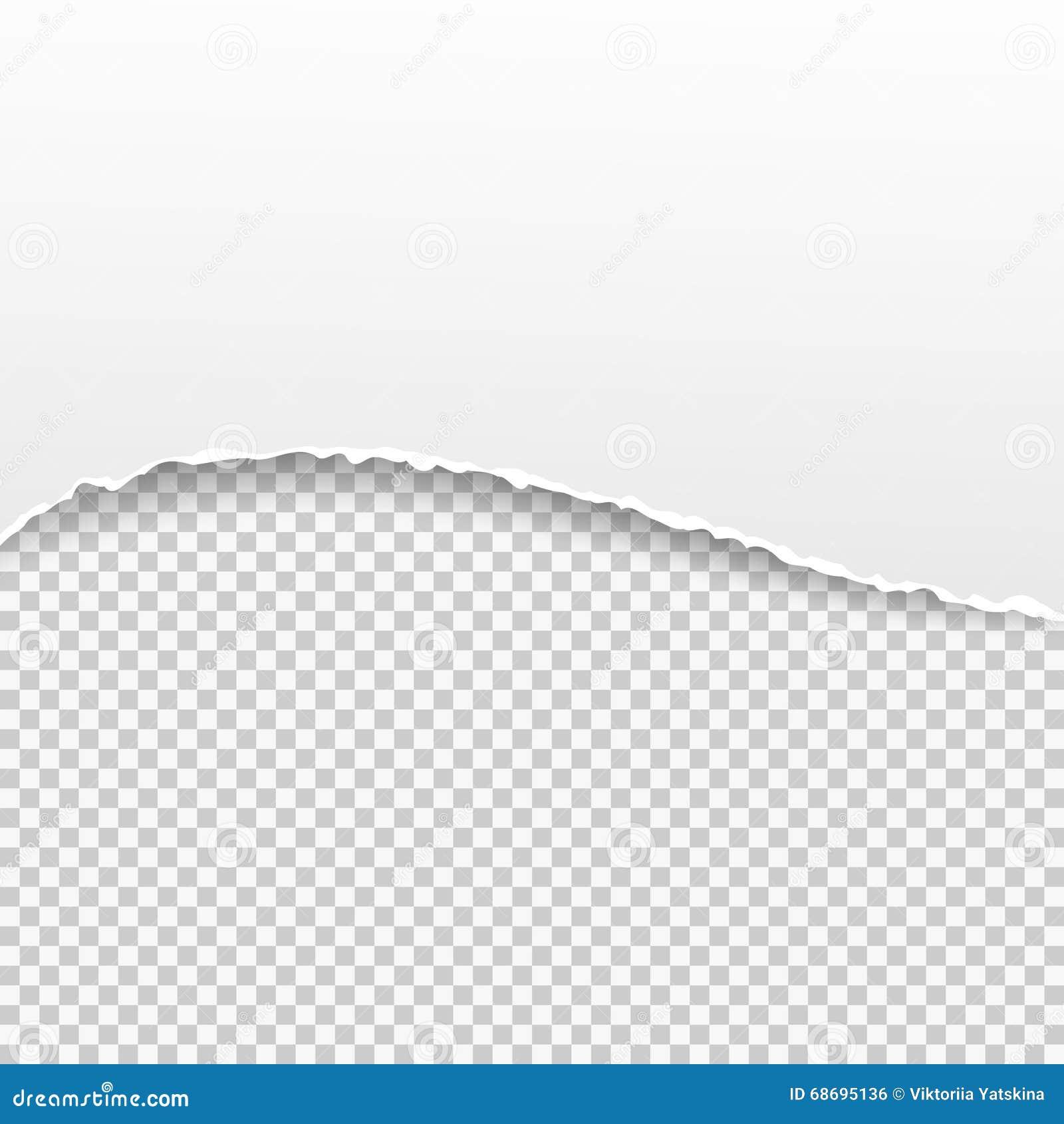 Insegna di carta lacerata sui precedenti trasparenti Illustrazione di vettore
