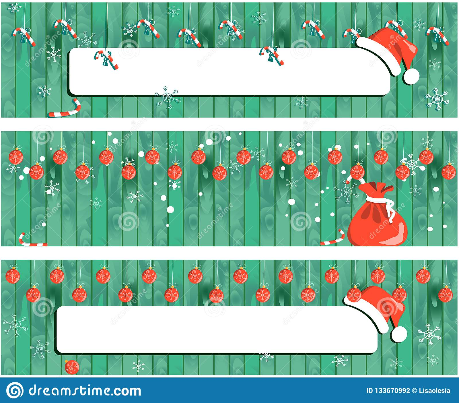 Insegna di Natale della raccolta, fondo di legno di progettazione del nuovo anno con la ghirlanda