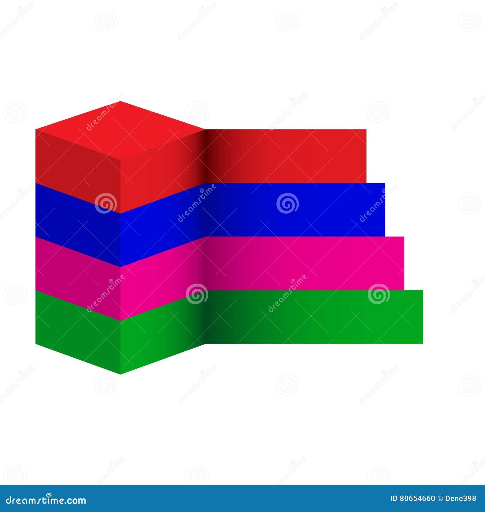 Insegna di opzioni di infographics del cubo illustrazione for Opzioni di raccordo economico