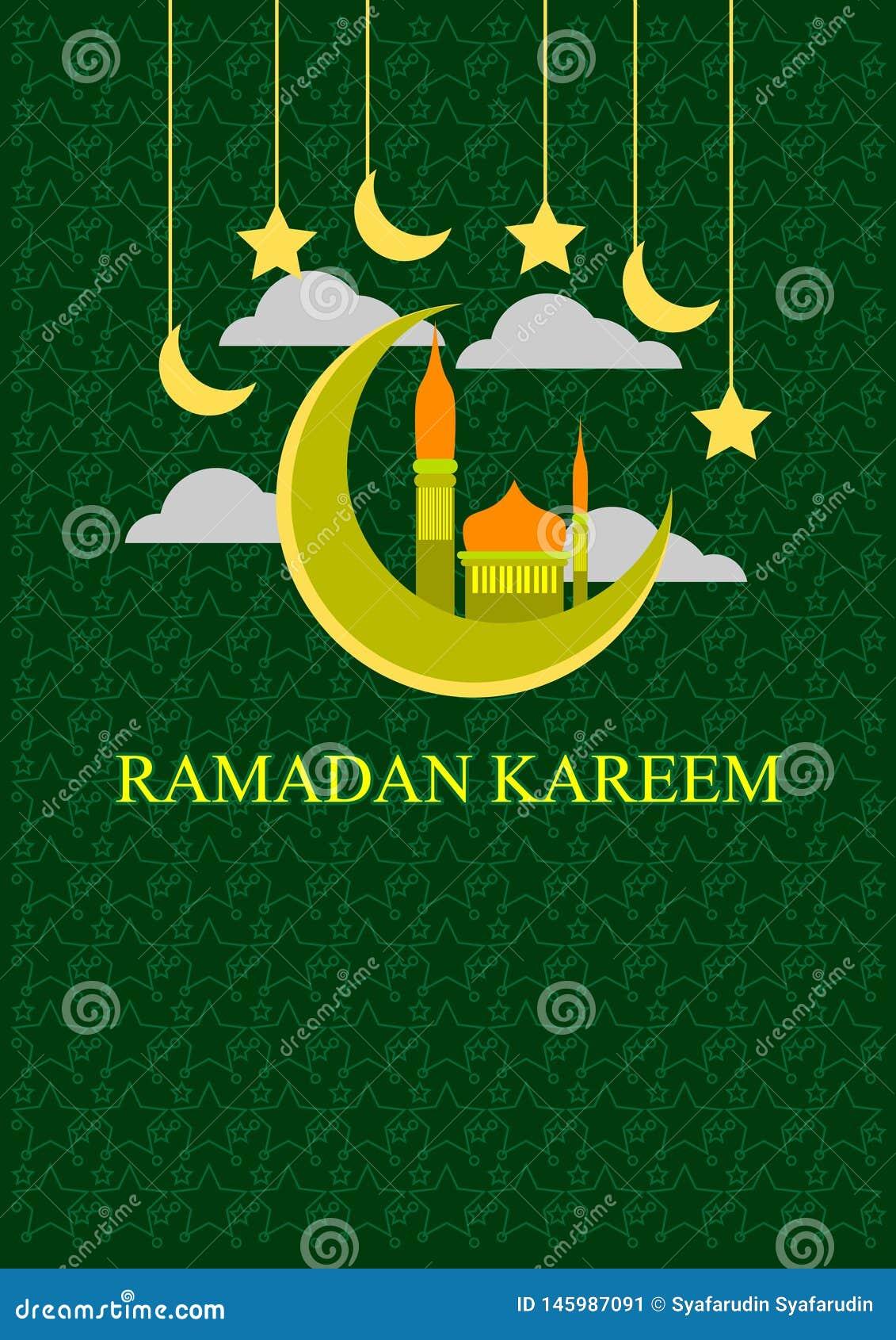 Insegna di Ramadhan Kareem per i musulmani che celebrano