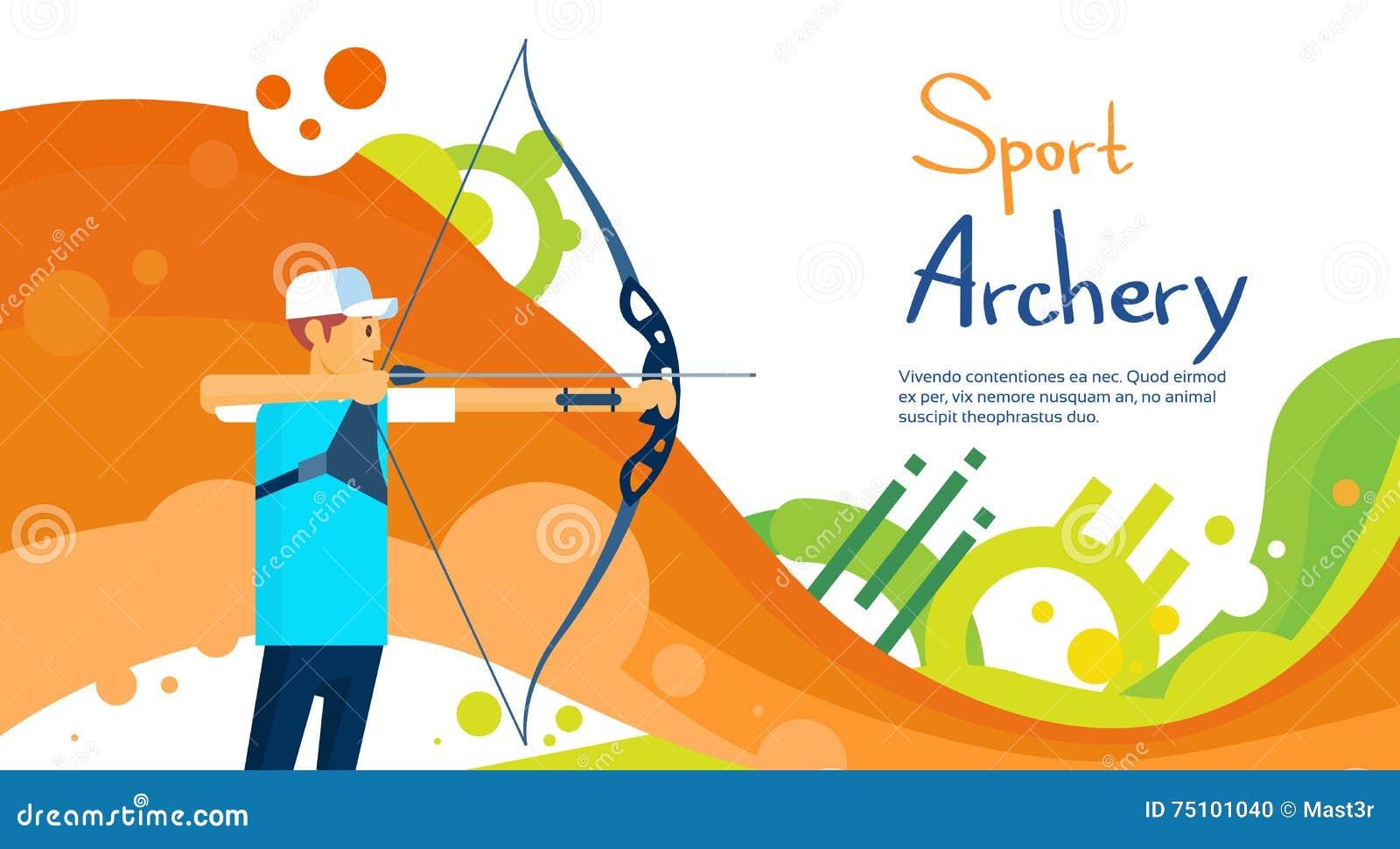 Insegna di Sport Competition Colorful dell atleta di Archer