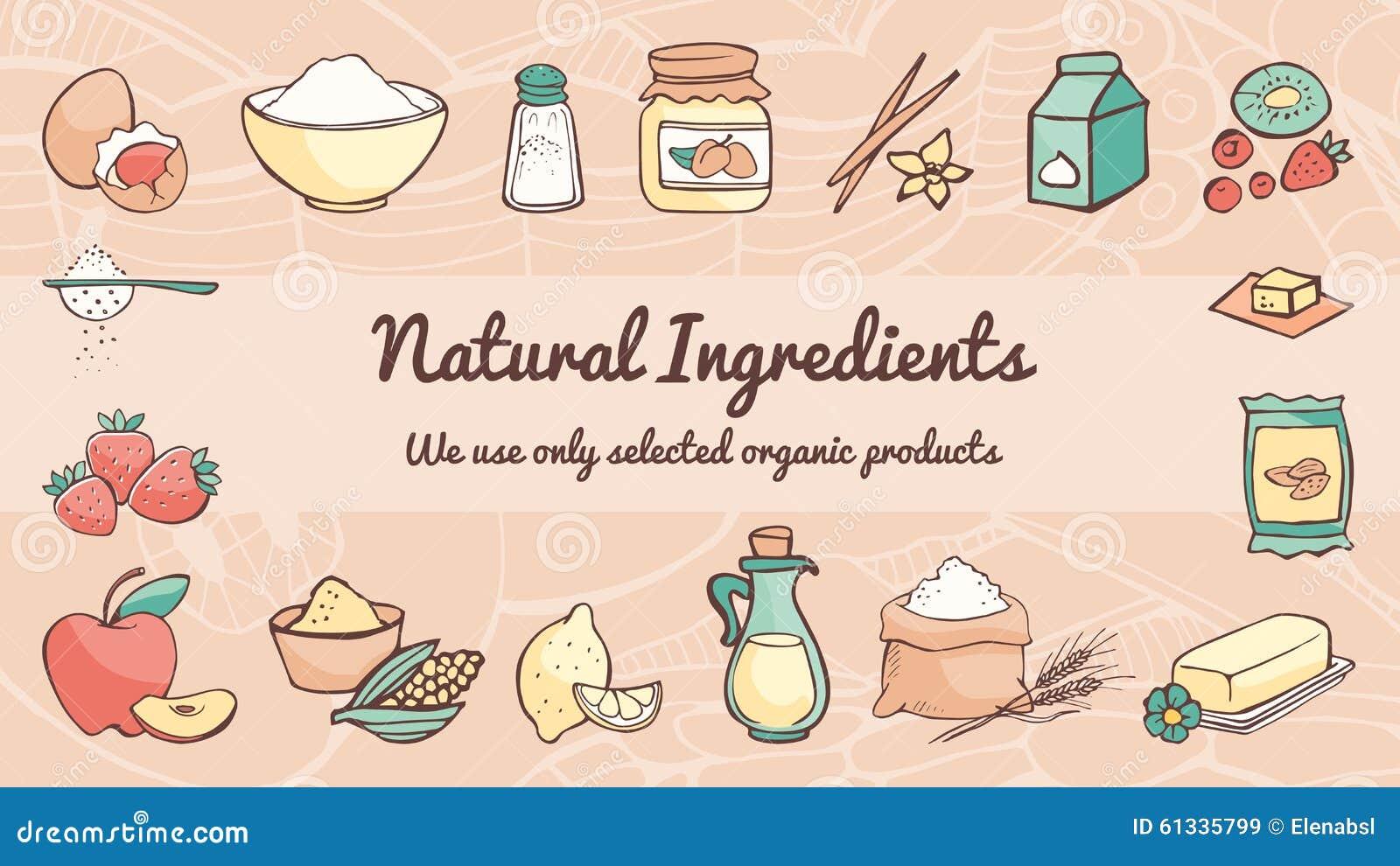 Insegna naturale degli ingredienti