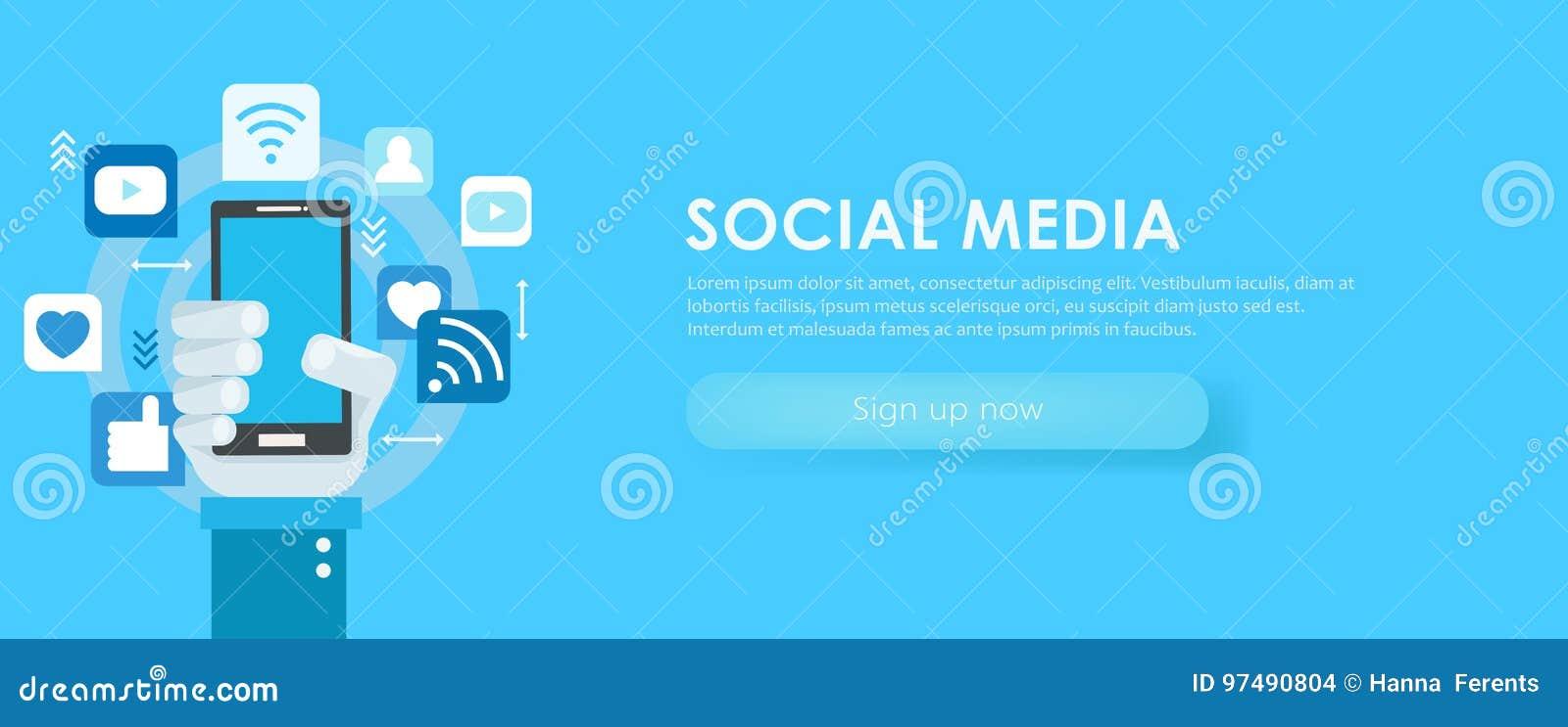 Insegna sociale di media Telefono con le icone