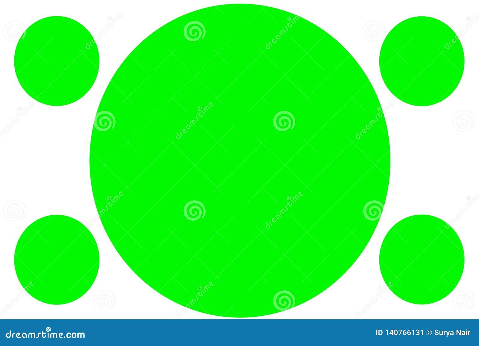 Insegne colorate circolari - cerchi verdi Pu? essere usato per scopo dell illustrazione, il fondo, il sito Web, i commerci, le pr