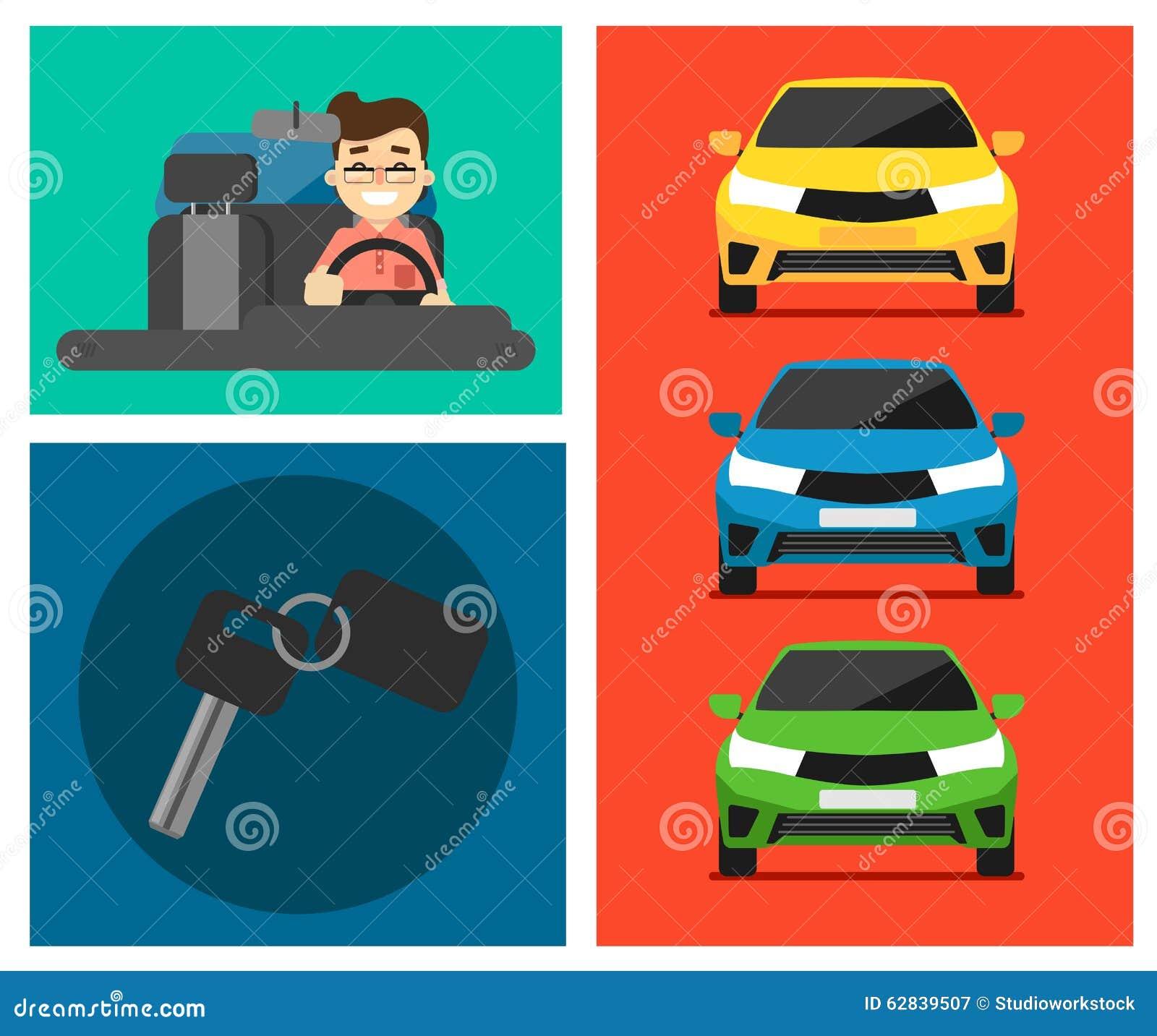 Insegne dell automobile locativa