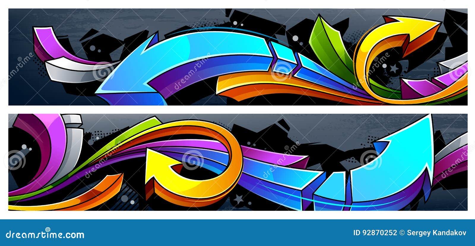 Insegne delle frecce dei graffiti