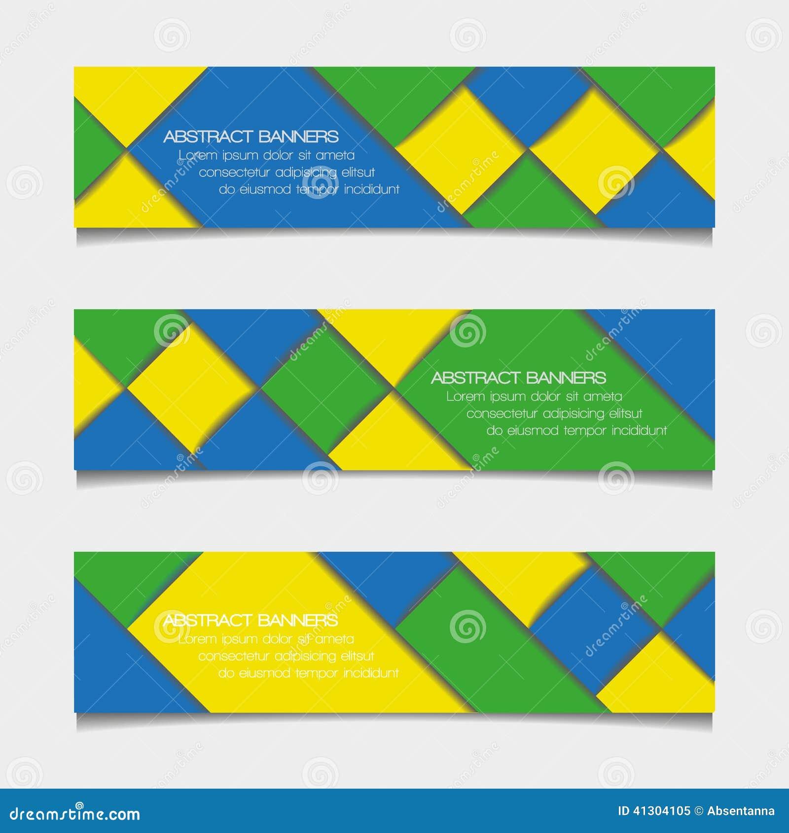 Insegne geometriche astratte nei colori della bandiera del for Colori del rivestimento della baracca