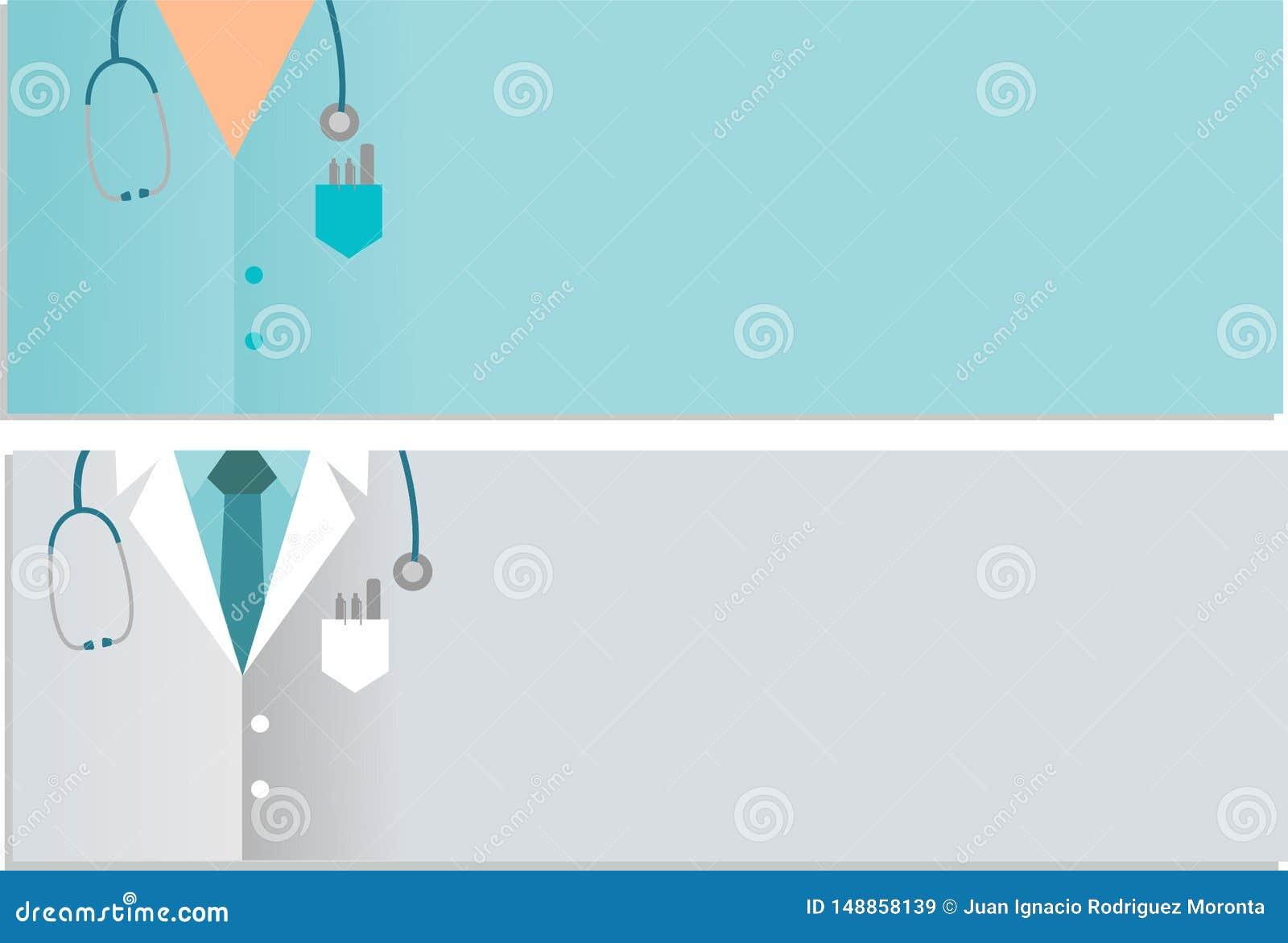 Insegne mediche e di cure con lo stetoscopio su fondo bianco