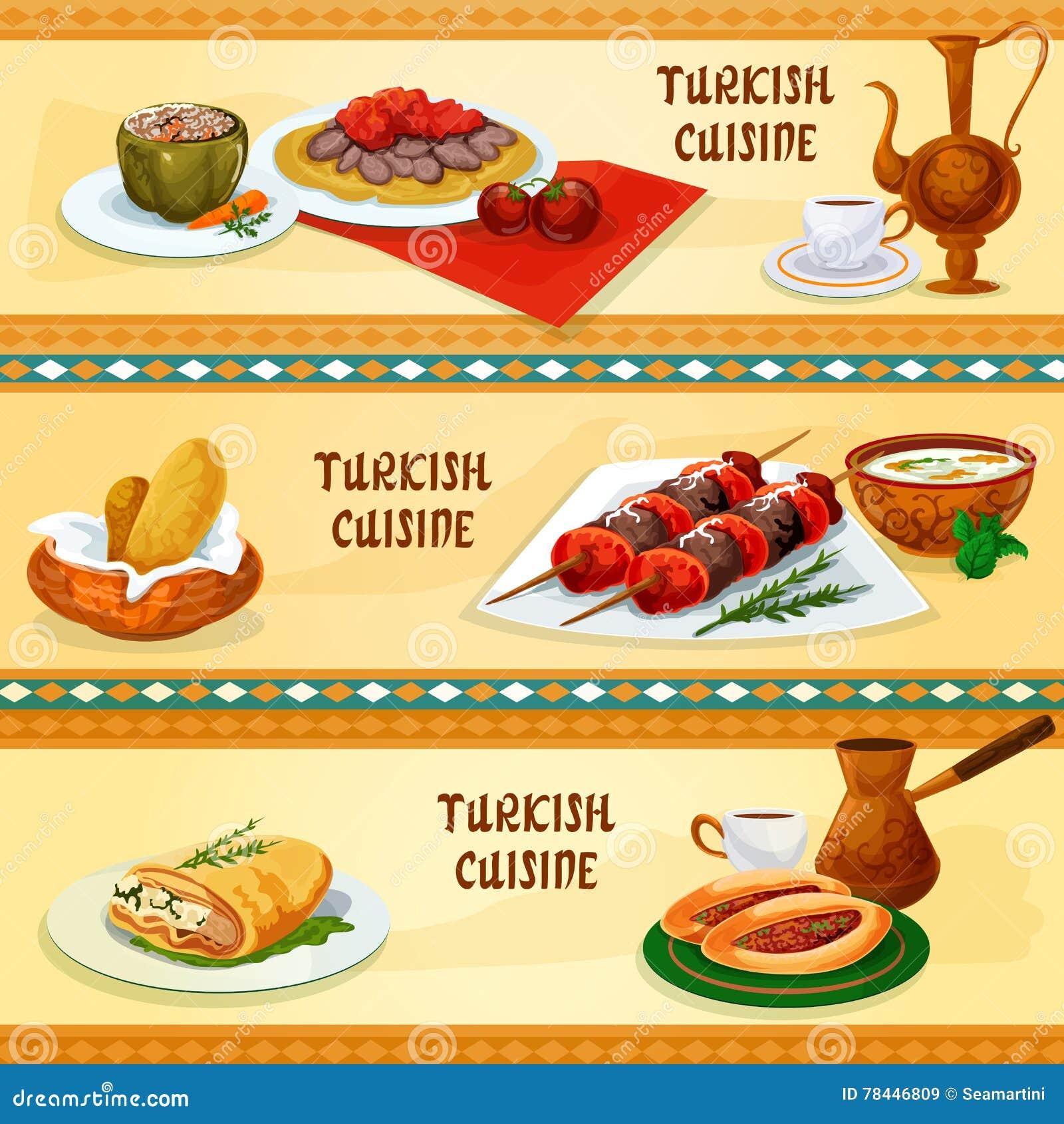 Insegne Turche Di Cucina Per Progettazione Del Menu Del