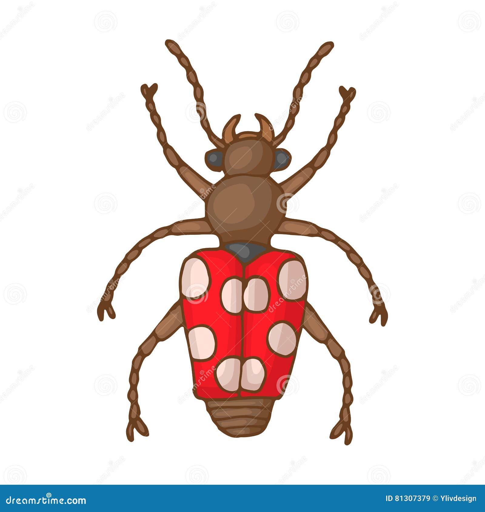 Insekt pluskwy ikona, kreskówka styl