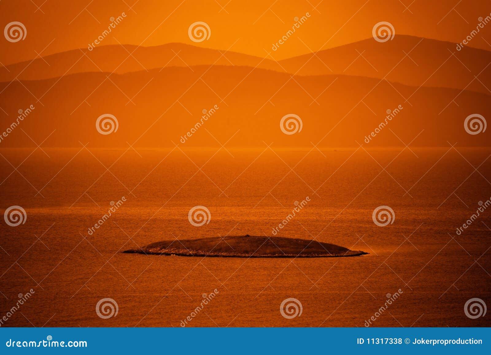 Insel in Ägäischem Meer