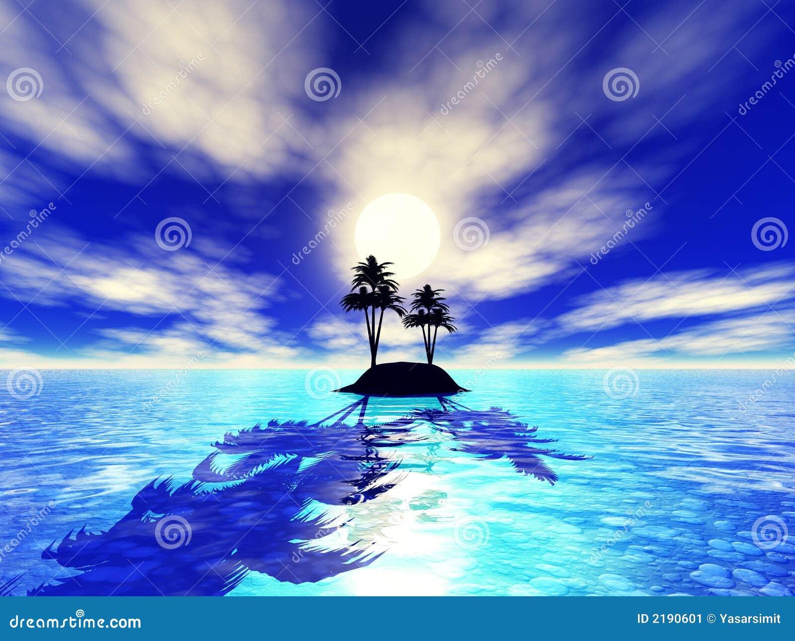 Erwachsene Insel des Paradieses 3d