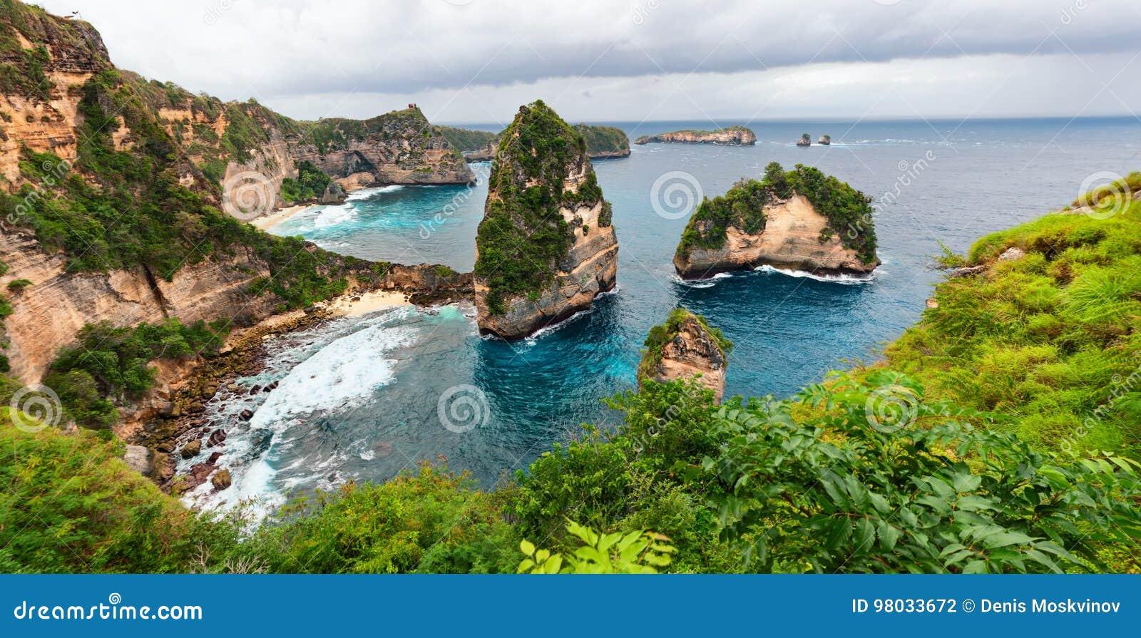 Insel-Seeküstenansicht Nusa Penida
