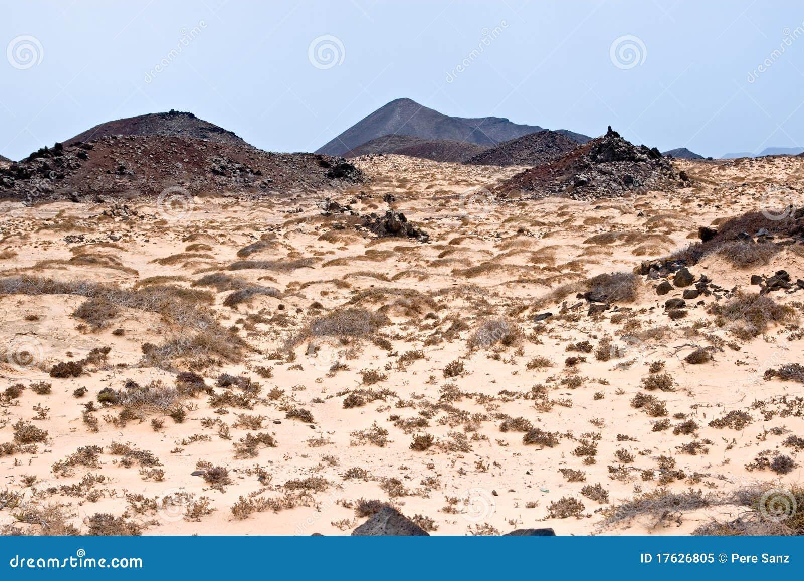 Insel Von Los Lobos, Fuerteventura, Stockbild - Bild von felsig ...