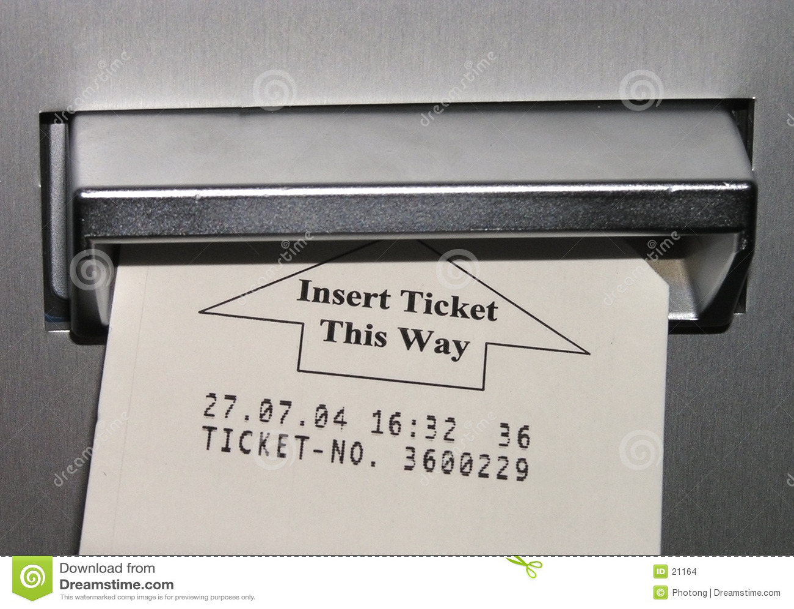 Inserimento del biglietto