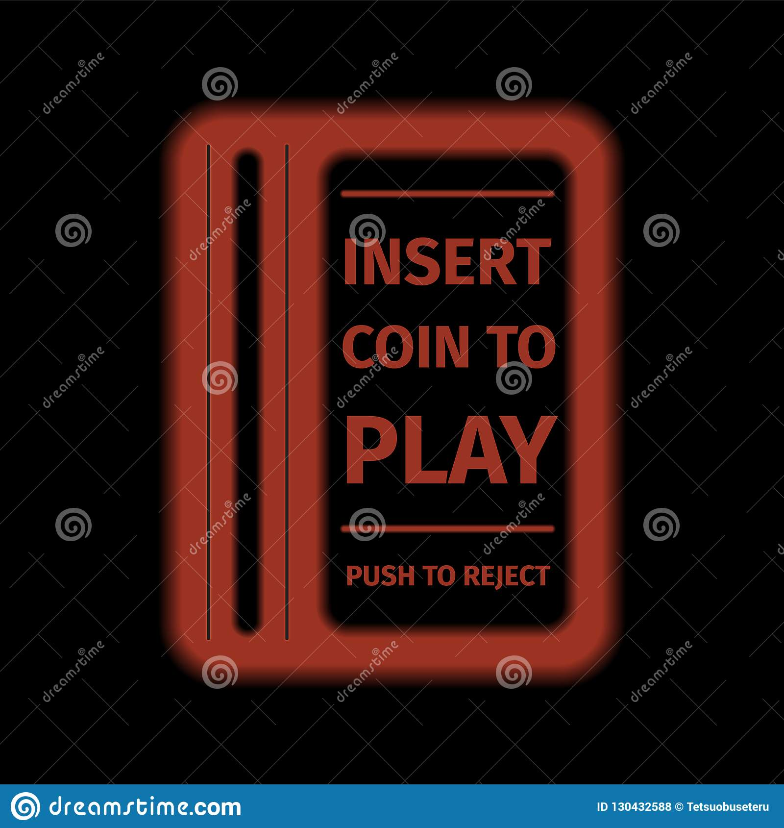 Arcade Machine Insert Coin Slot  Stock Vector - Illustration