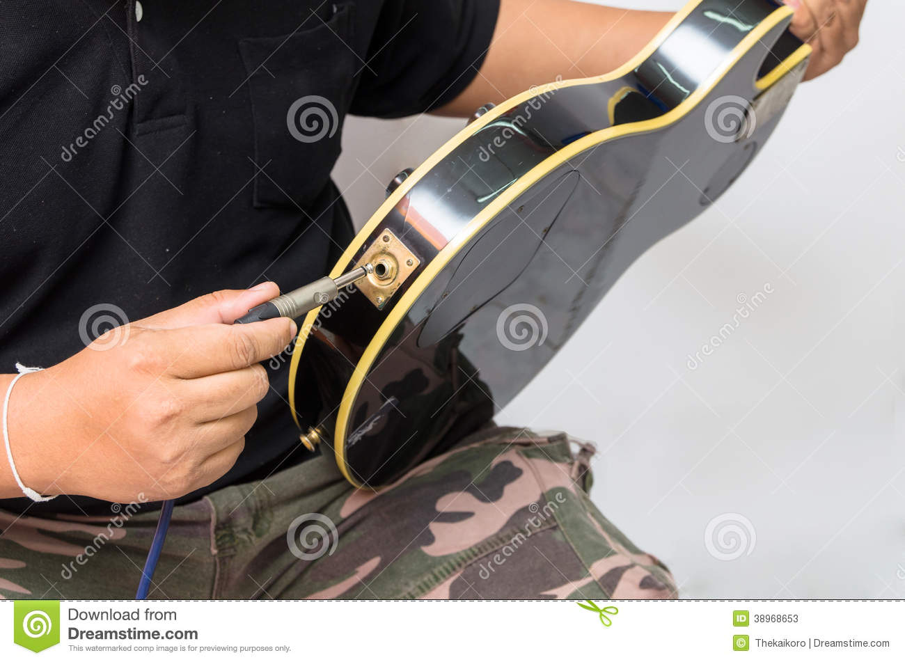 insert to electric guitar stock photo image 38968653