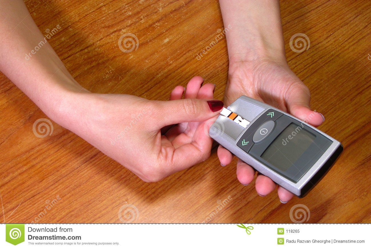 Download Inserting the strip stock image. Image of technology, glucose - 118265