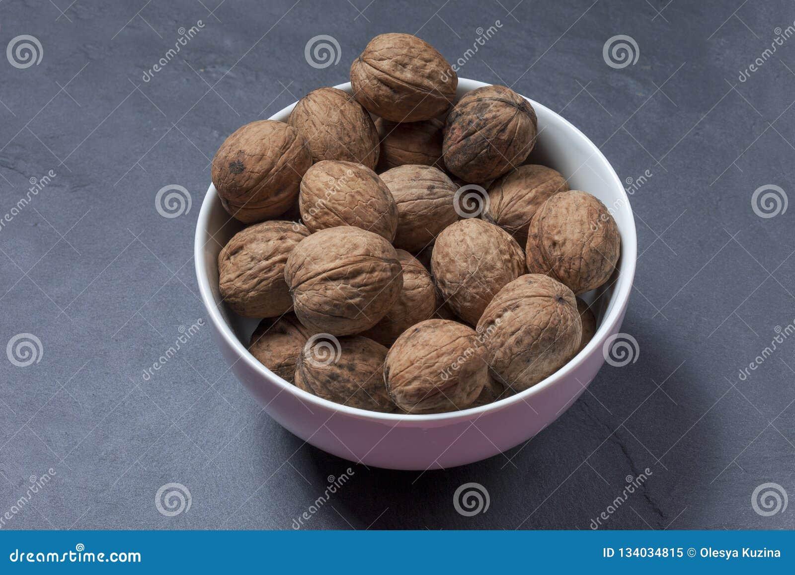 Inshell walnuts.