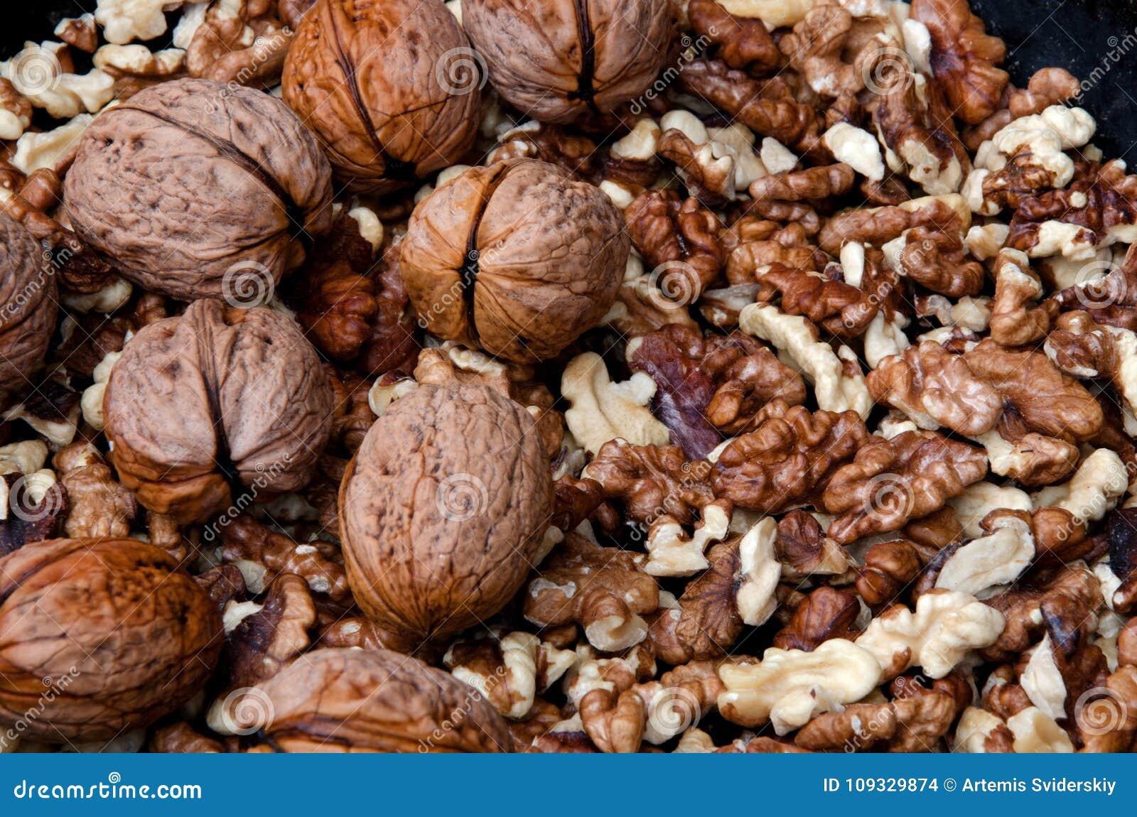Inshell walnuts and peeled
