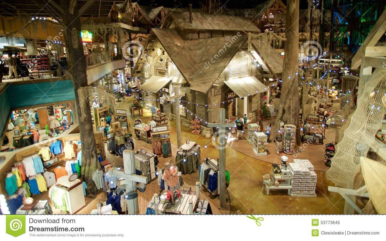 Bass Pro Shop Top Floor View Memphis Tennessee Editorial